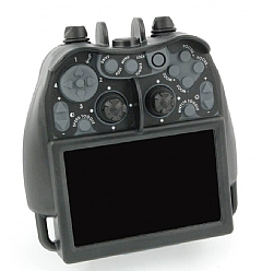 Rugged hand-held controller with HD screen
